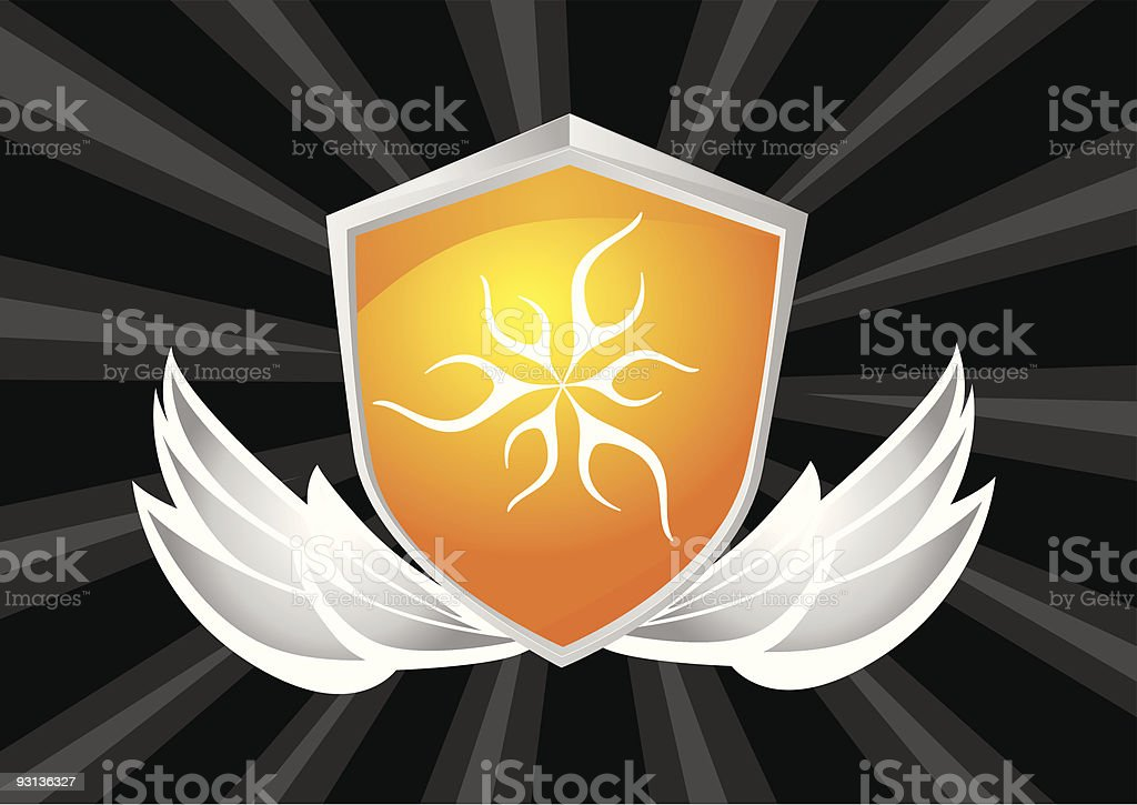 shield crest royalty-free shield crest stock vector art & more images of animal wing