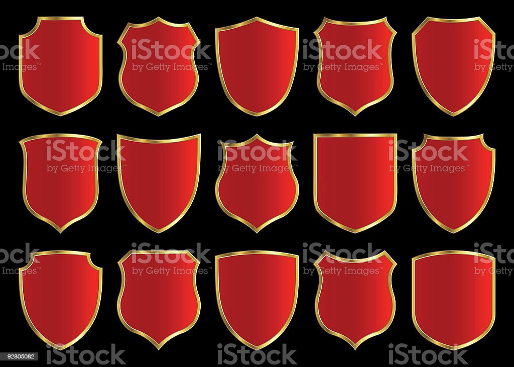 shield design set royalty-free shield design set stock vector art & more images of armed forces