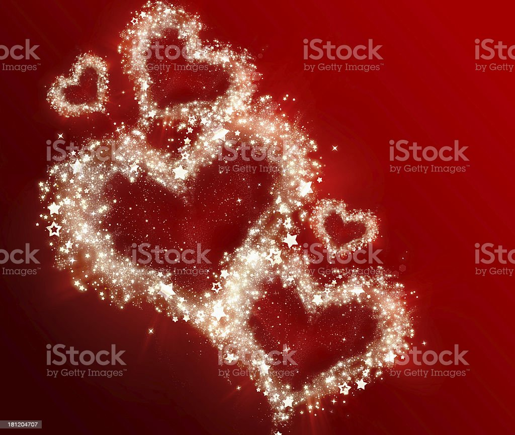 shining hearts royalty-free stock vector art