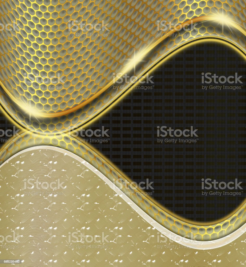 Shiny black and gold background royalty-free shiny black and gold background stock vector art & more images of abstract