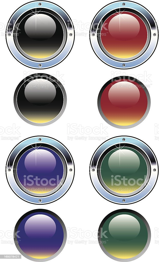 Shiny buttons royalty-free stock vector art