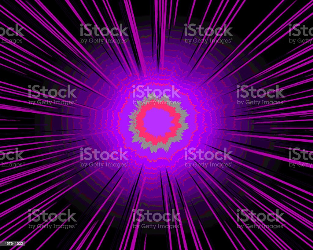 Shiny Lights On Purple And Black Background Royalty Free