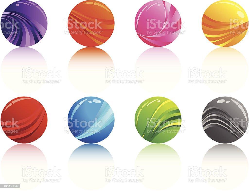 Shiny Marbles vector art illustration