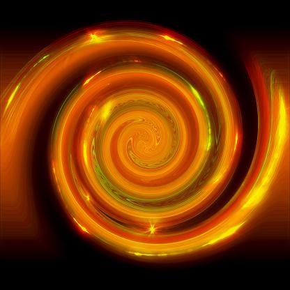 Shiny orange shade concentric circles background.