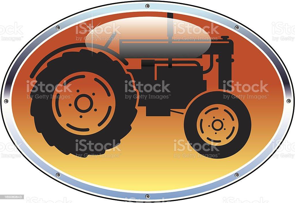 Shiny tractor royalty-free stock vector art