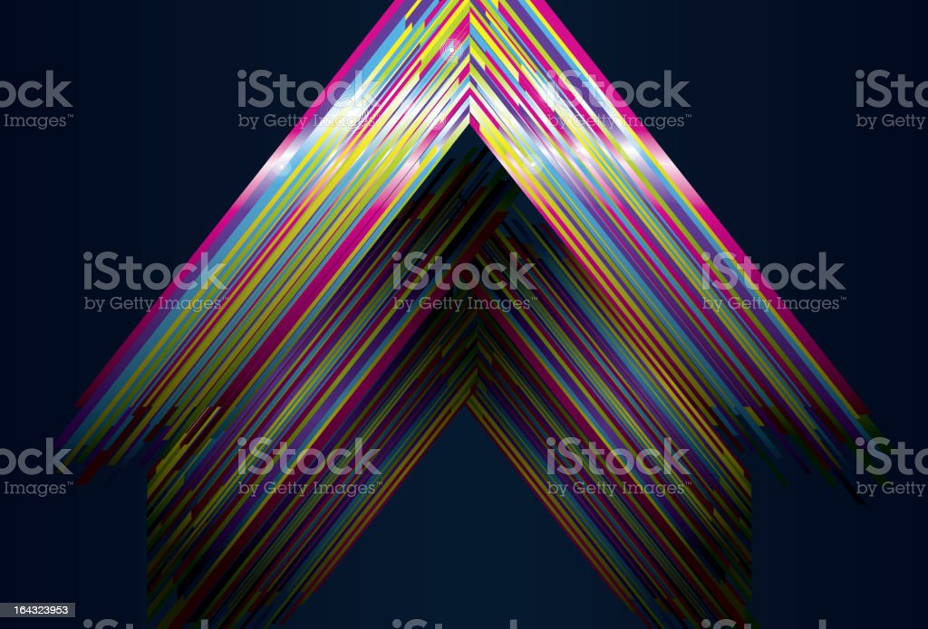 Shiny Triangle background royalty-free stock vector art