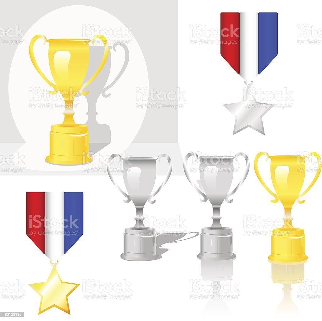 Shiny Trophy Award Medal royalty-free stock vector art