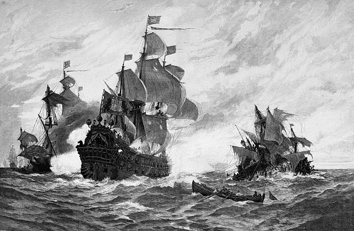 A ship from Hamburg defeats 5 French pirate ships