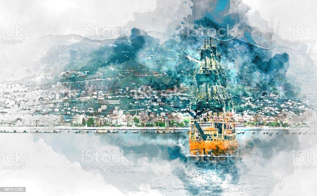 Ship vektör sanat illüstrasyonu