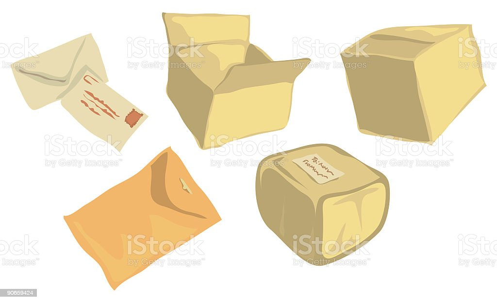 Shipping Containers vector art illustration