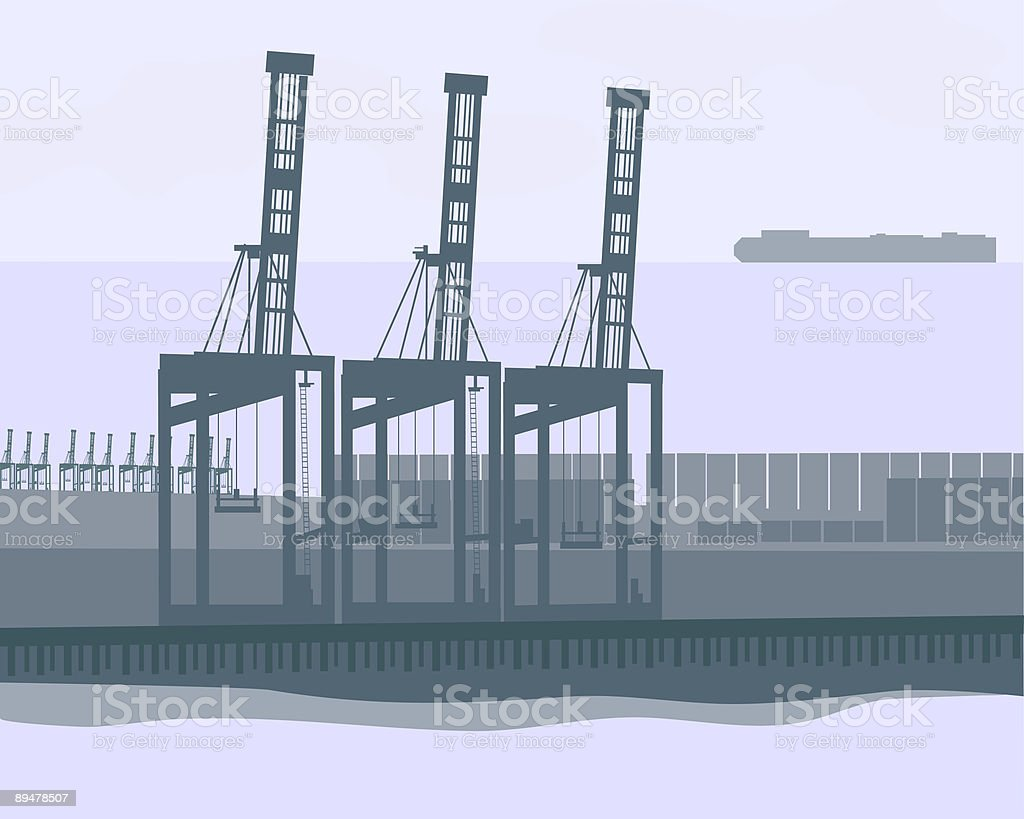 Shipping Terminal royalty-free shipping terminal stock vector art & more images of art