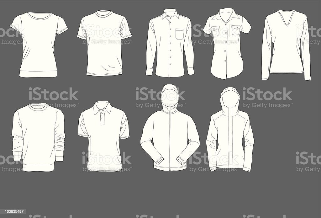 Shirt Template royalty-free stock vector art