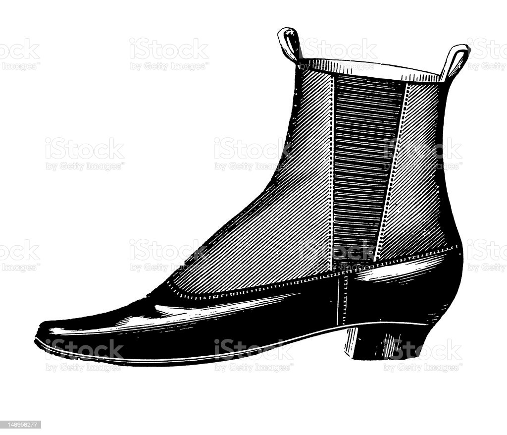 Shoe royalty-free shoe stock vector art & more images of 19th century