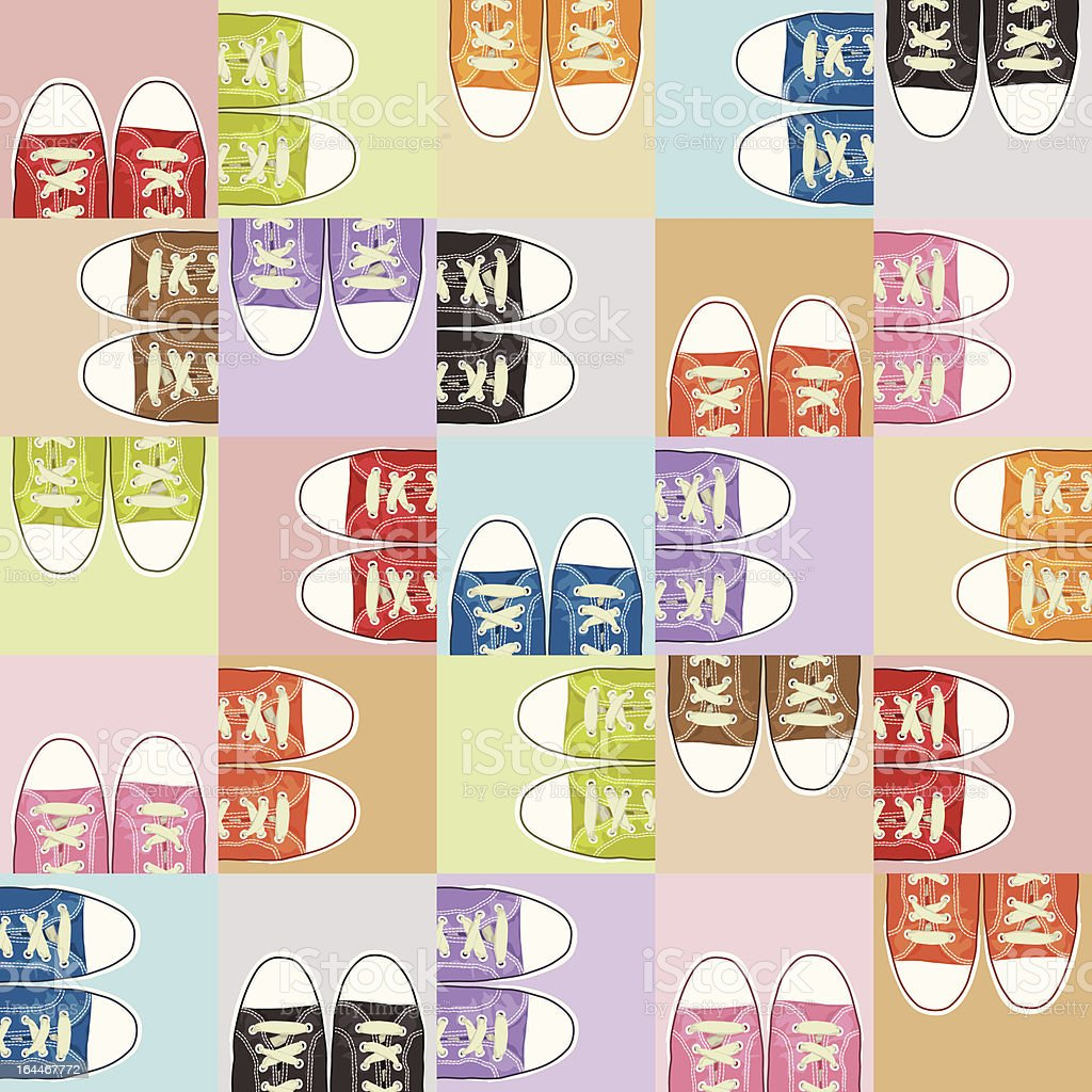 shoe pattern royalty-free stock vector art