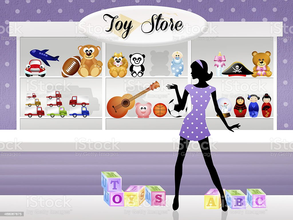 Shop of toys royalty-free stock vector art