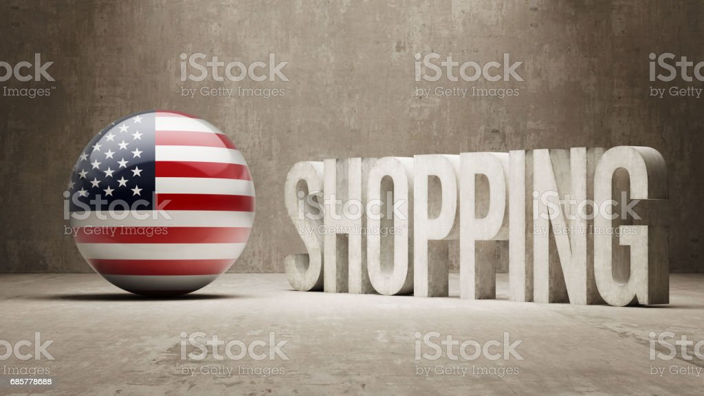 Shopping Concept royalty-free shopping concept stock vector art & more images of american flag