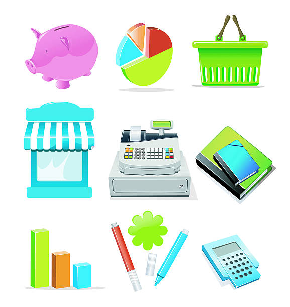 Shopping & Consumerism icons vector art illustration