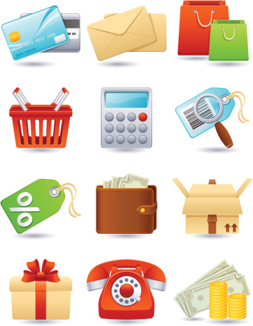 Shopping Icon Stock Illustration - Download Image Now