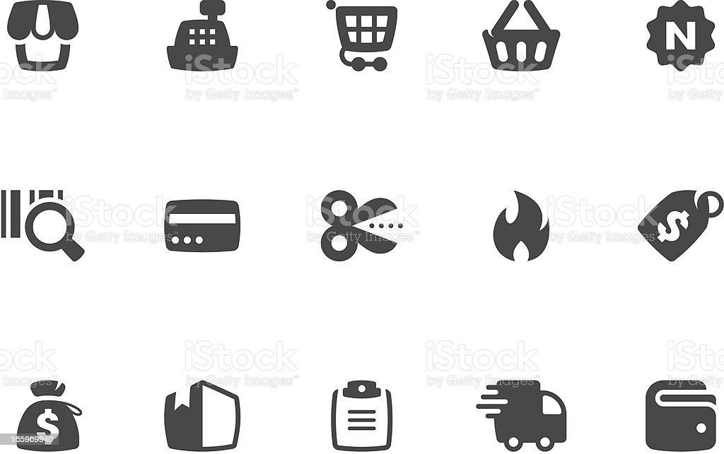 Shopping Icon Set | Coal Series royalty-free stock vector art