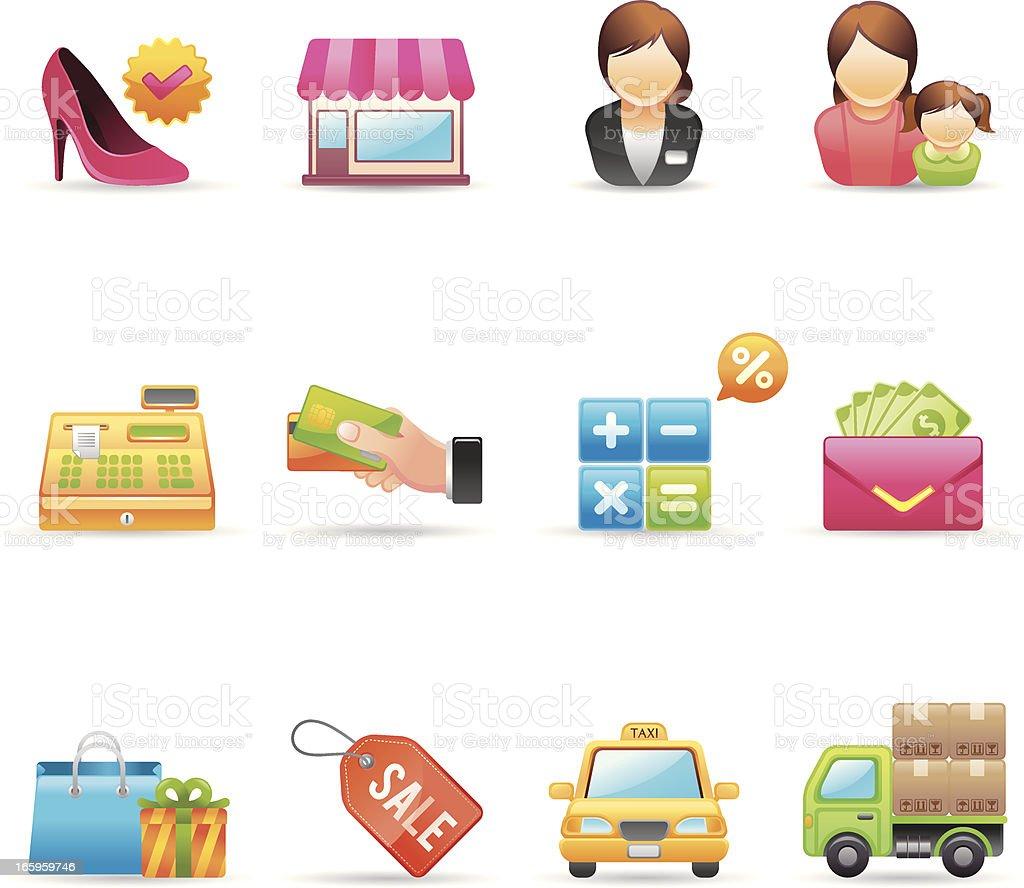 Shopping Icons | Gradient Series vector art illustration
