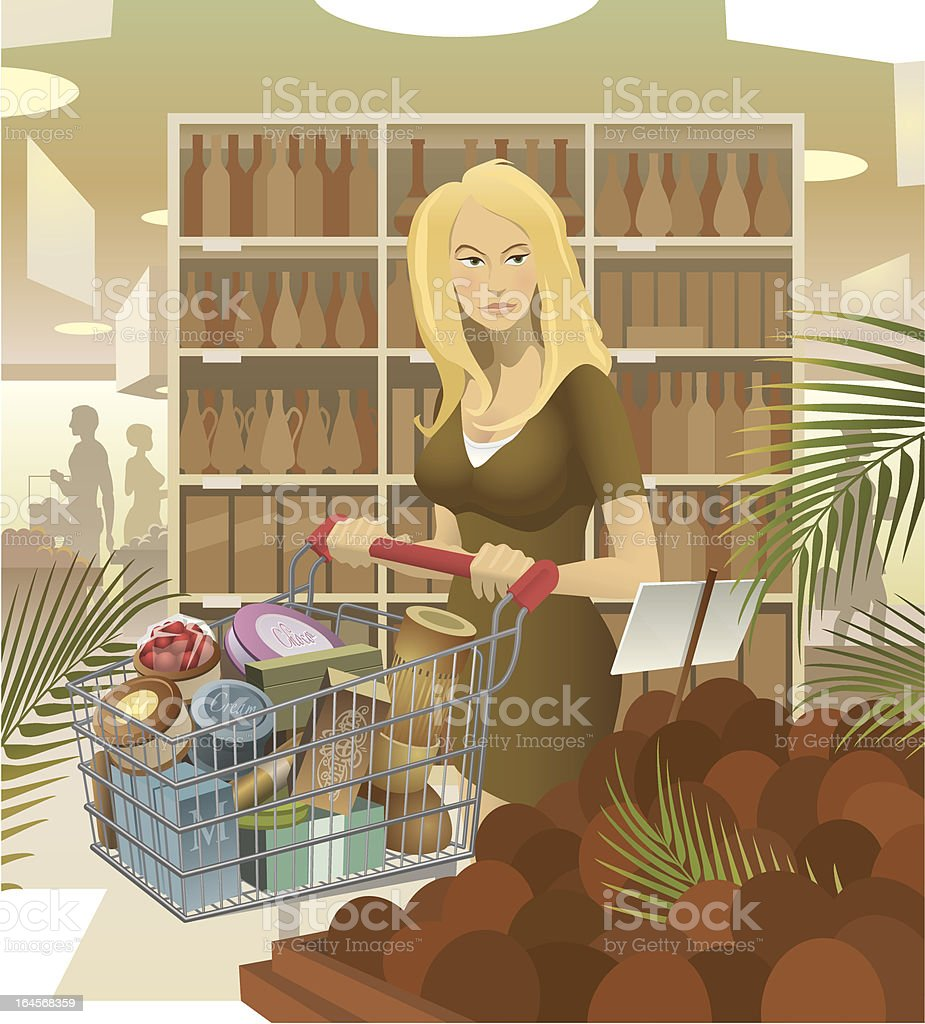 Shopping Young Lady royalty-free shopping young lady stock vector art & more images of 25-29 years