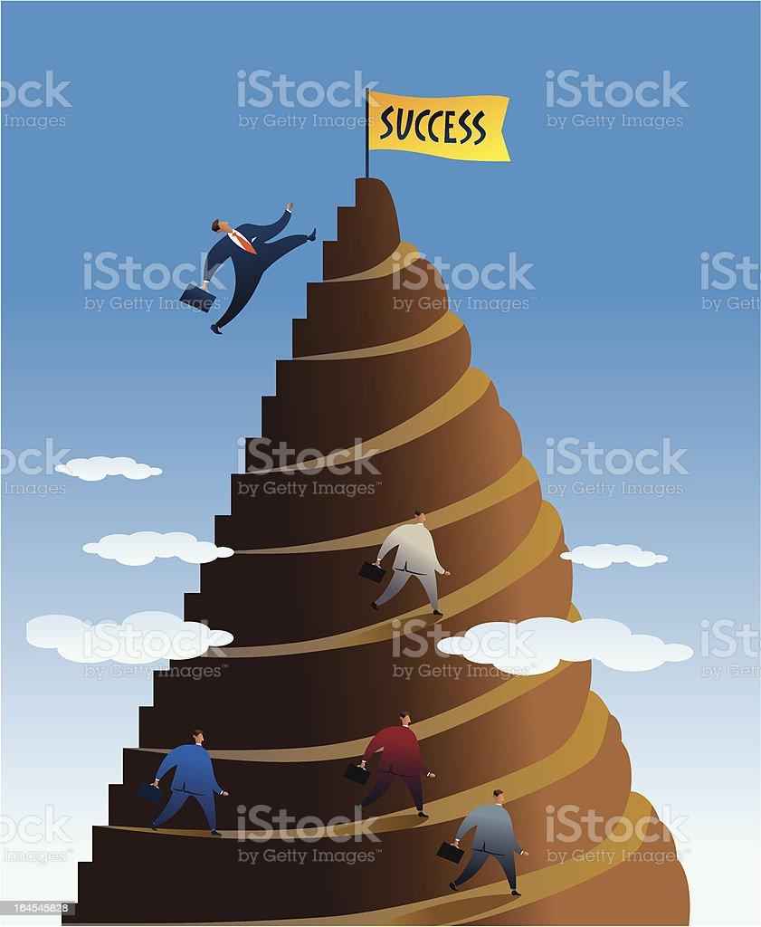 short way to success royalty-free short way to success stock vector art & more images of achievement