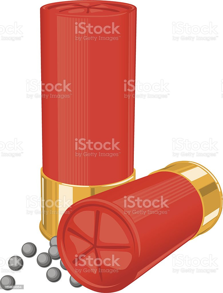 shotgun shells vector art illustration