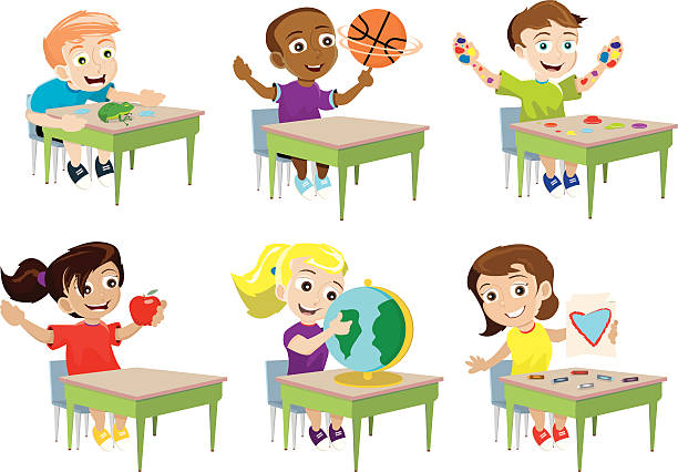 Kids Show And Tell Illustrations, Royalty-Free Vector ...
