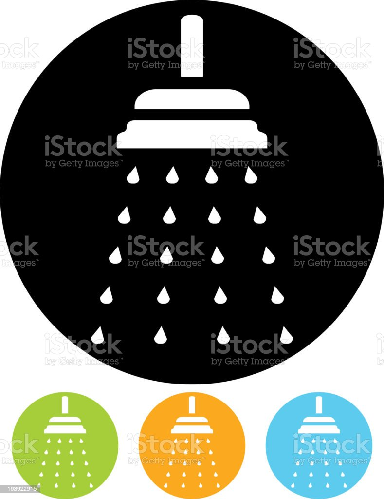 Shower – Vector icon isolated royalty-free stock vector art