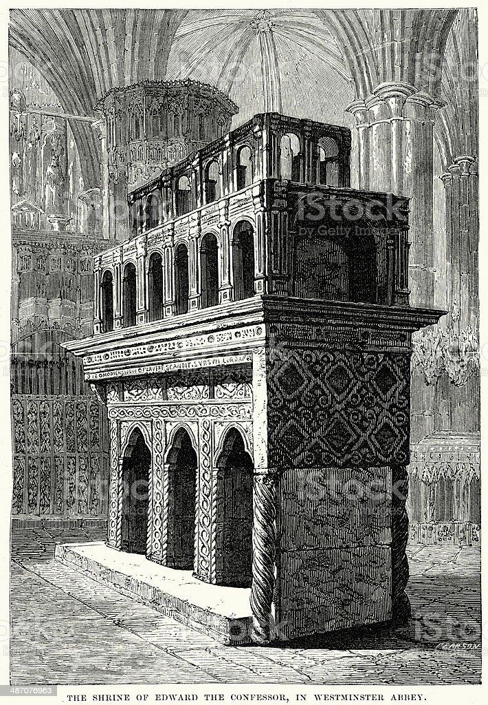 Shrine of Edward the Confessor royalty-free stock vector art