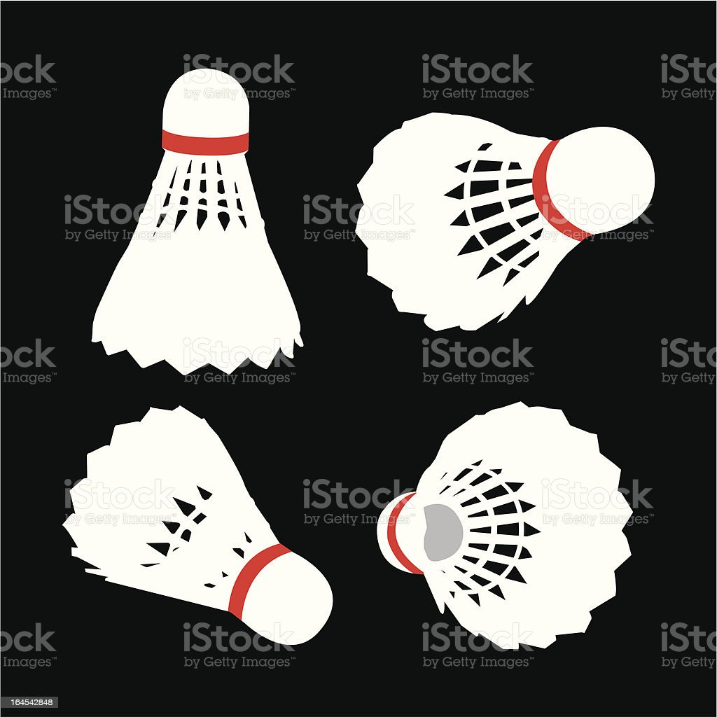 Shuttlecock royalty-free stock vector art