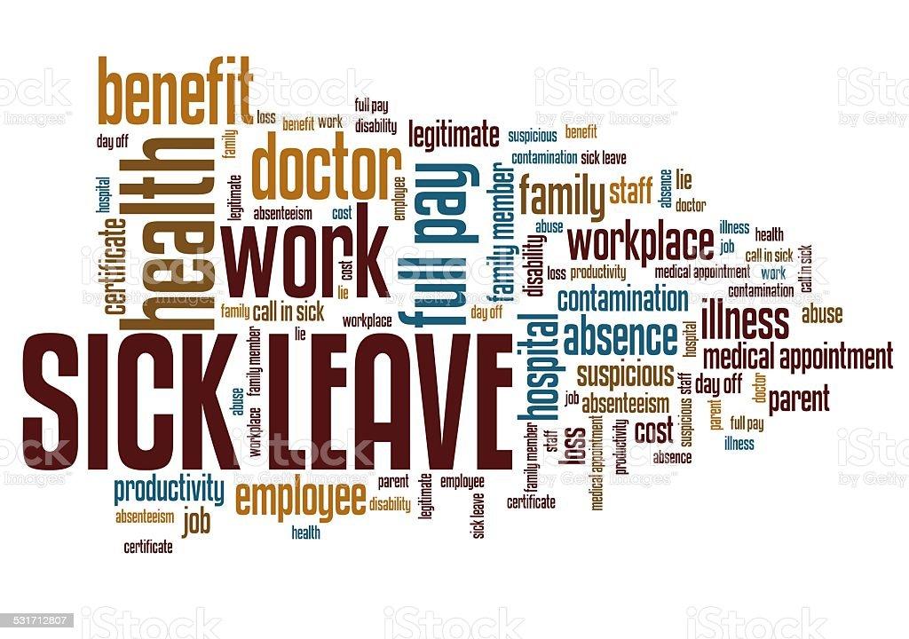 Sick leave vector art illustration