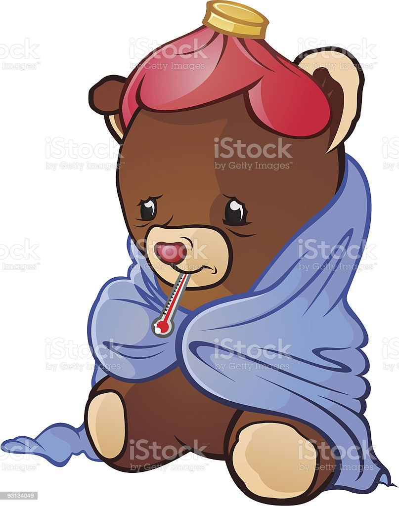 Sick Teddy Bear royalty-free sick teddy bear stock vector art & more images of animal