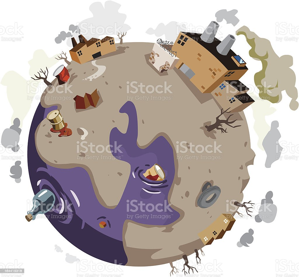 Sick World needs help. vector art illustration