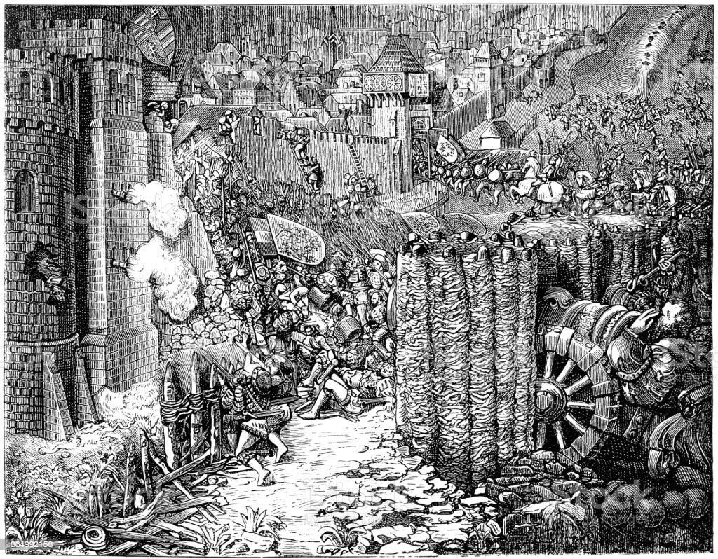 Siege And Destruction Of A City Under Holy Roman Emperor ...