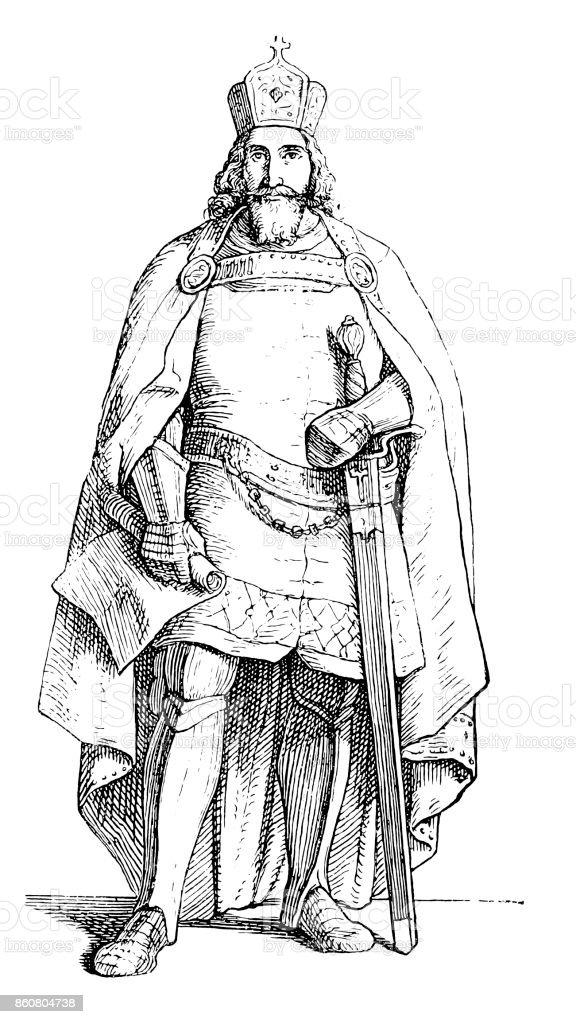 ジギスムントルクセンブルク神聖ローマ皇帝の家 - 1人のベクターアート ...