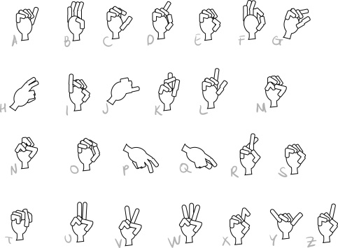 Sign Language Vector Hands Stock Vector Art & More Images