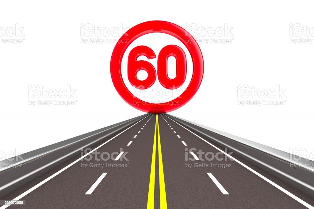 sign restriction speed. Isolated 3D image vector art illustration