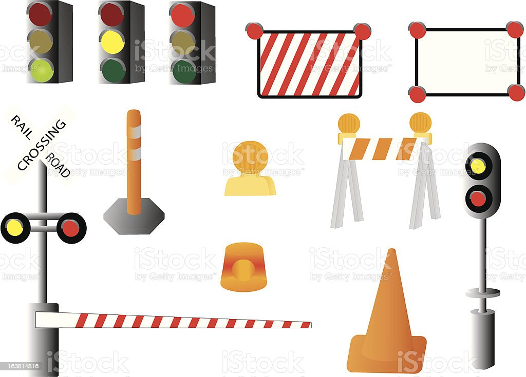 signs and signals royalty-free signs and signals stock vector art & more images of construction industry