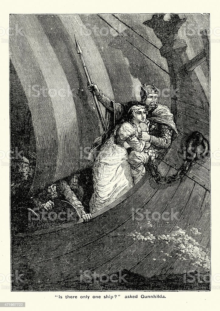 Sigurd Viking And The Maiden Stock Vector Art & More Images of 2015