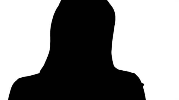 ilustrações de stock, clip art, desenhos animados e ícones de silhouette active business woman holding tablet - senior business woman tablet