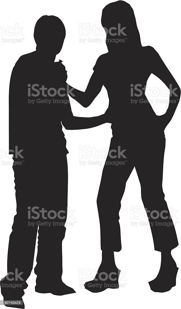 Silhouette Couple 01 royalty-free stock vector art