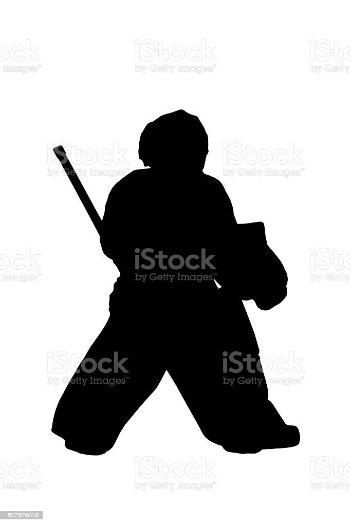Silhouette Hockey Goalie Stock Vector Art More Images Of 2015 Istock