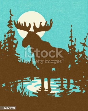 Silhouette of a Moose