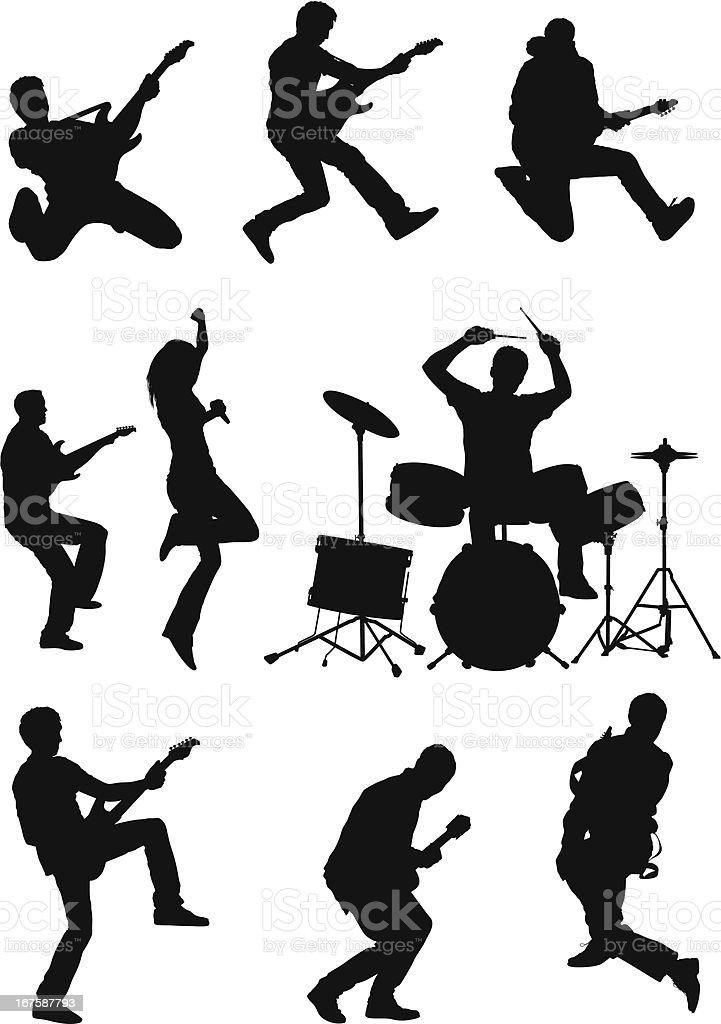Silhouette de musiciens - Illustration vectorielle