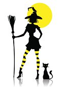 silhouette of witch