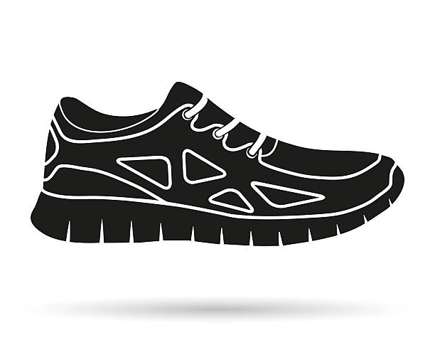 track shoe silhouette royalty free trainers shoes clip art vector images 5507