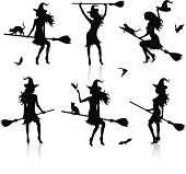 Silhouettes of a witch.
