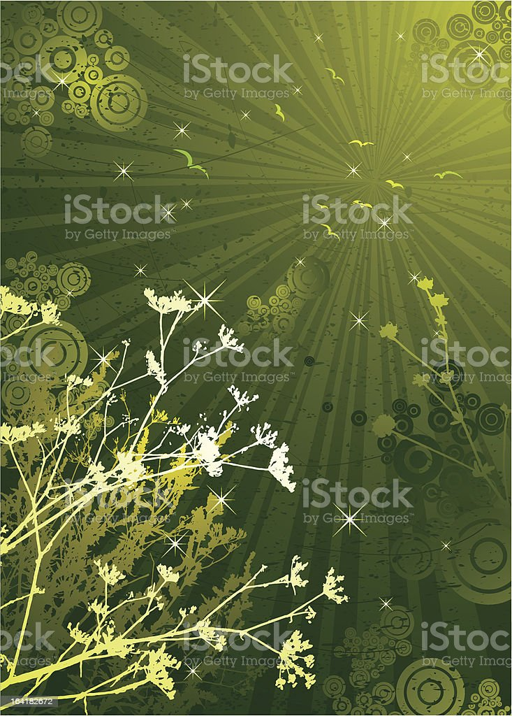 silhouettes of plants, vector royalty-free stock vector art