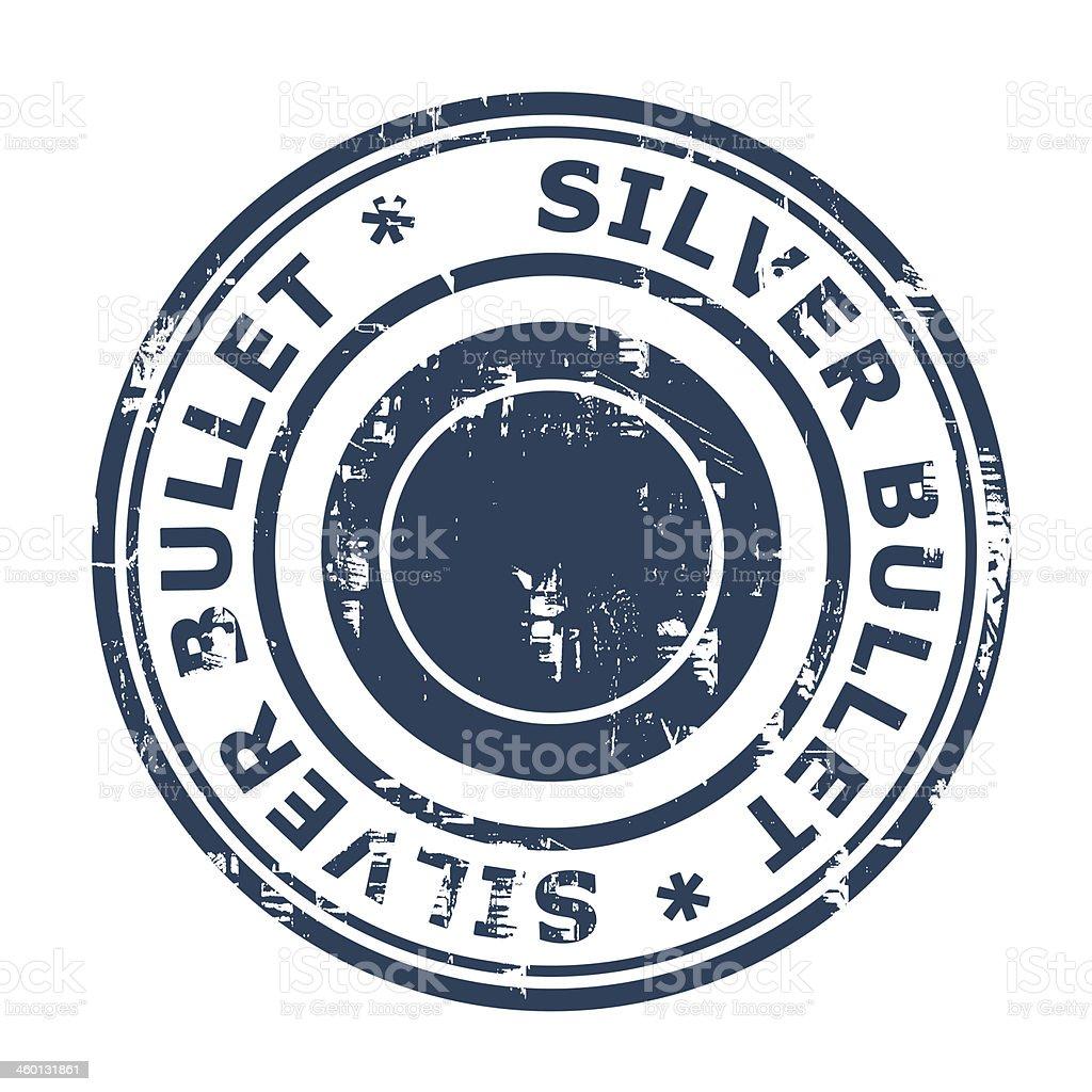 Silver bullet business stamp vector art illustration